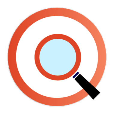 Icon magnifying glass