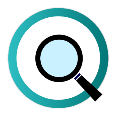 Icon of magnifying glass for case study