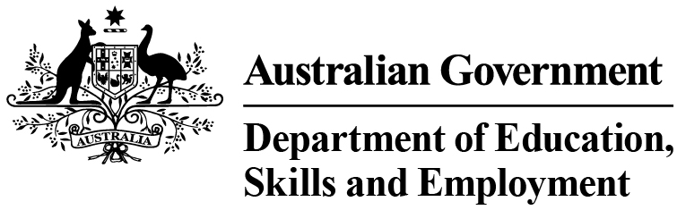 Australian Government Department of Education, Skills & Employment Logo